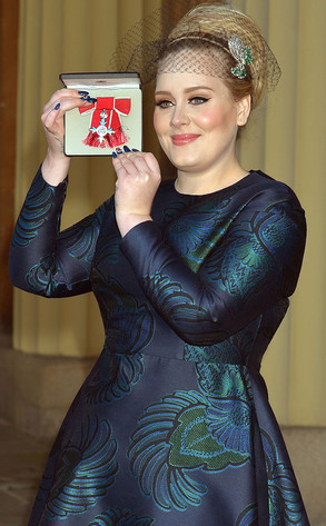 "Lovely Adele. I understand she's wearing a ""tea dress"""