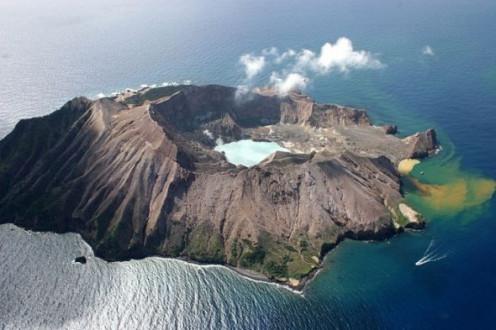 An active volcano.