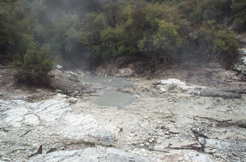 One of the many hot sulphur pools.