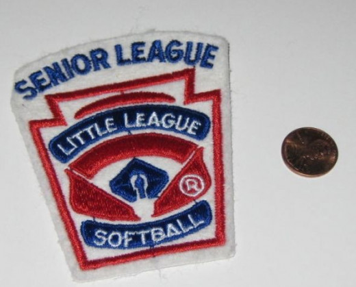 Senior League Little League Softball patch.