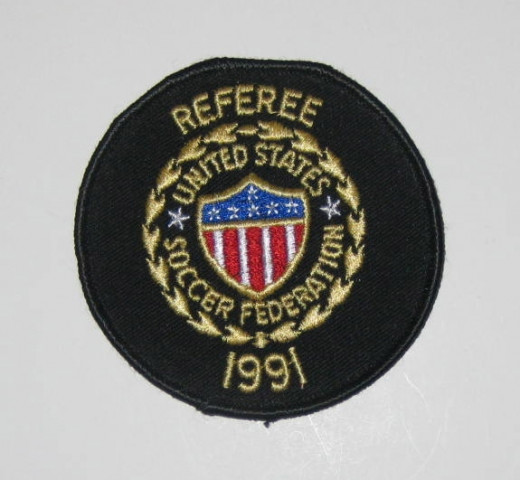 Referee patch United States Soccer Federation 1991.