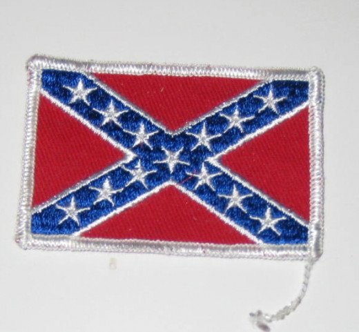Confederate flag sew on patch.