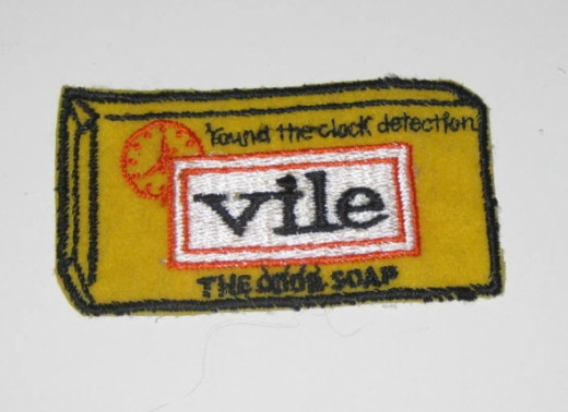 Vile, round the clock detection (Dial soap) Sew On Patch.