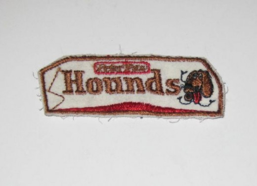 Hounds (Mounds candy bar) Sew On Patch.