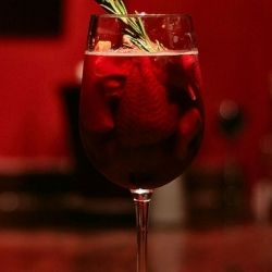 Sangria Cocktail in Wine Glass - Photo Credit: waferboard