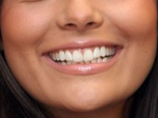 Girl Smiling Showing Beautiful Healthy Teeth
