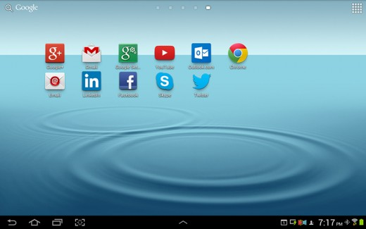 My Internet apps.