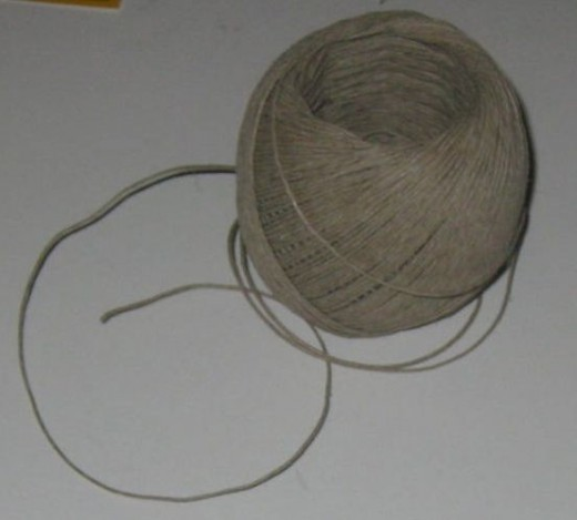 Begin with your choice of cording, such as hemp cord shown here.