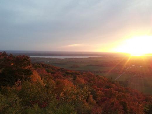 Sunset - Gatineau Hills in Autumn