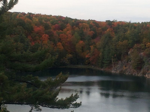 Pink Lake in the Gatineau Park - autumn view