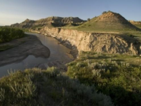 Little Missouri River Flows in Little Missouri National Grasslands