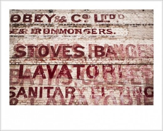 Tom Bland's photo of layered ghost sign