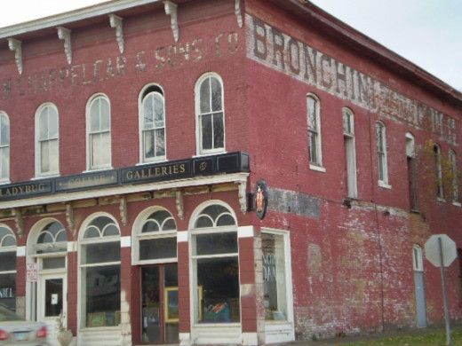Lovely old building with ghost sign in Zanesville, Ohio.