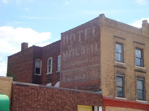 Hotel Mitchell ghost sign.