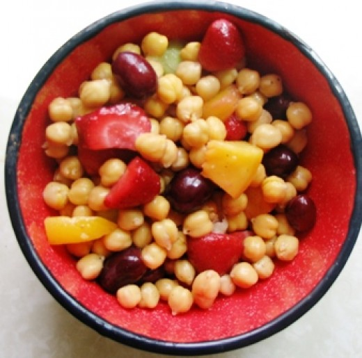 chick peas and grapes