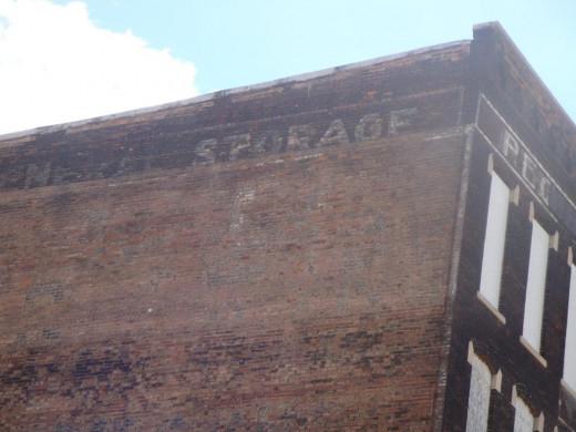 Storage sign.