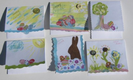 Art collage Easter cards.