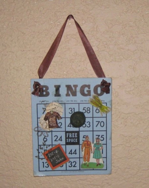 Another vintage Bingo card art collage.