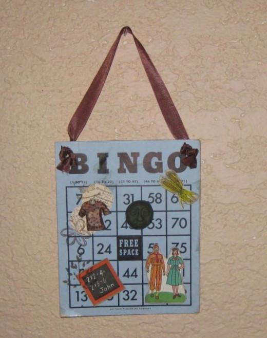 Another vintage Bingo card art collage.