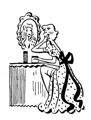 Pamper yourself.Vintage image courtesy of The Graphics Fairy.