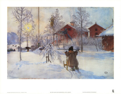 """These colors and the wintry scene say """"Happy Holiday"""""""