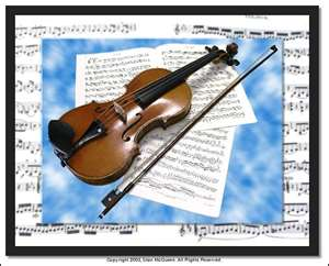 We do violin and piano lessons.
