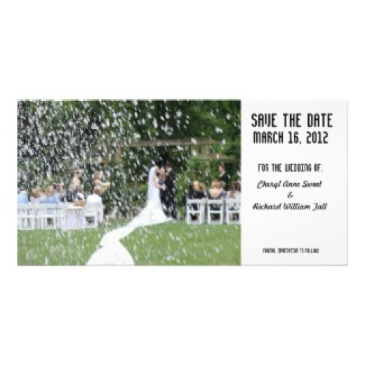 Customizable Perfect Wedding Save The Date Customized Photo Card