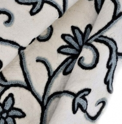 The photo is of a Scandinavian Crewel Embroidery Swatch.