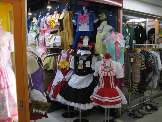 Japanese Cosplay shop.