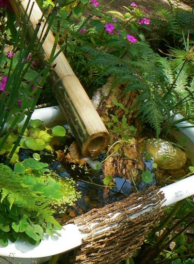 Bath Tub Pond is one example of turning trash into treasure, or re-purposing.