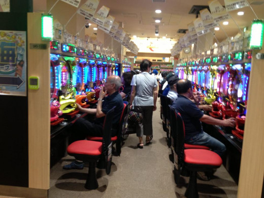 Pachinko Parlors... famous in Japan.