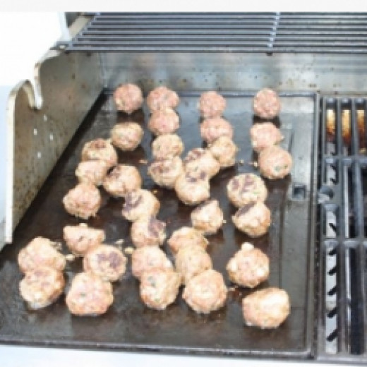 Kefta on the grill.