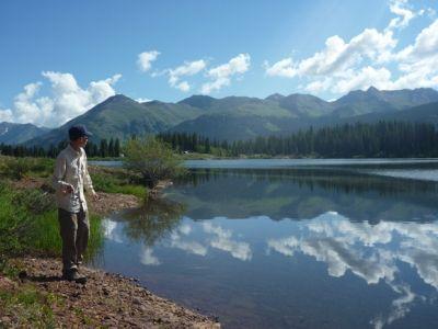 My Son Fishing & Incredible Views