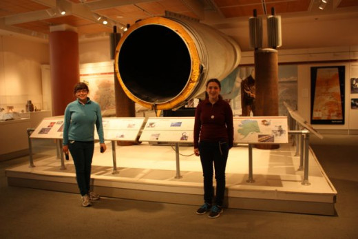 A cross section of the Alaska oil pipeline.
