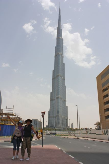 Our first view of the world's tallest building.