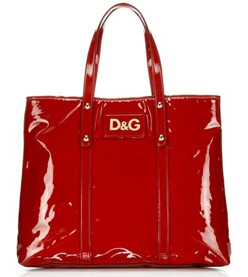 Red patent leather handbag from Dolce and Gabbana. My choice!