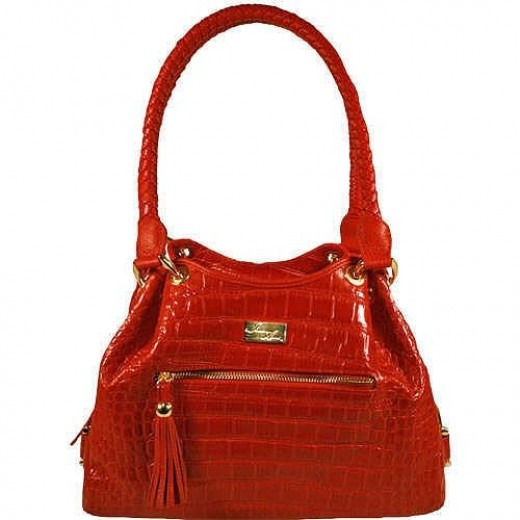 Imitation snake or alligator skin, too much like the real thing in a handbag?
