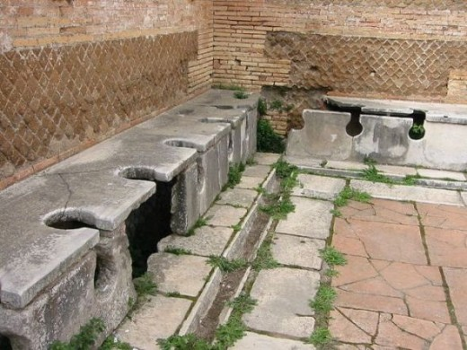 Latrinae at Ostia Antica