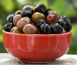 A bowl of olives