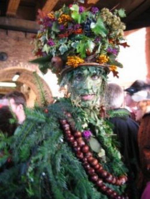 Shropshire May Pageant with The Green Man