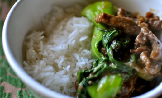 Stir Fry Beef and Bok Choy