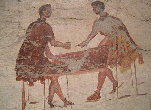 Mural. Dice Players