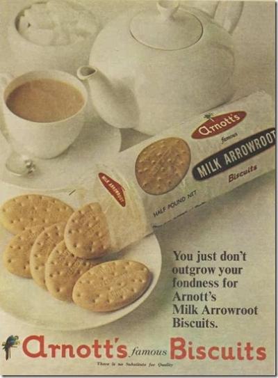 1967 vintage arrowroot biscuit ad