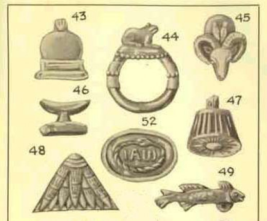 The Frog talisman is seen in the figure labeled as number 44.
