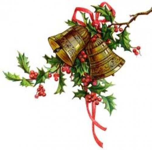 Holly and bells are a traditional holiday decoration that can bring cheer from where they hang.