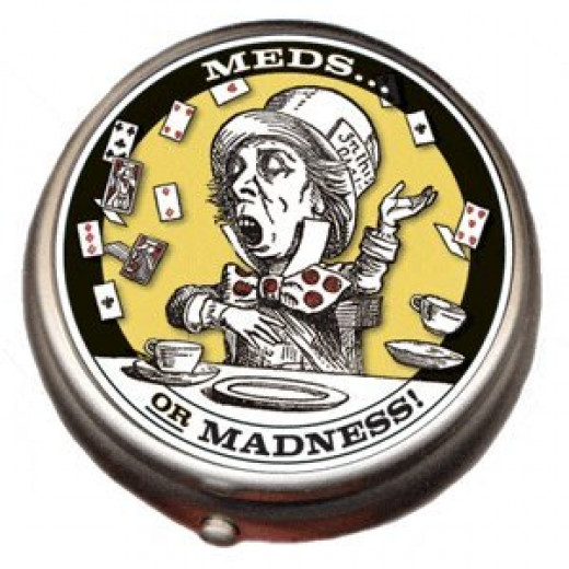 Mad hatter pill box