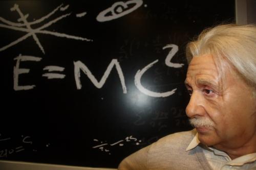 Einstein at Madame Tussauds