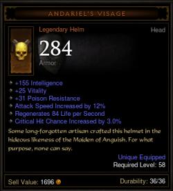 Wizard Andariel's Visage