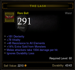 Demon Hunter Dexterity Belt