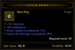 Demon Hunter Ring Cycle Feint